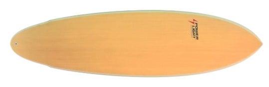 Modelo em madeira da prancha Evolution da Powerlight