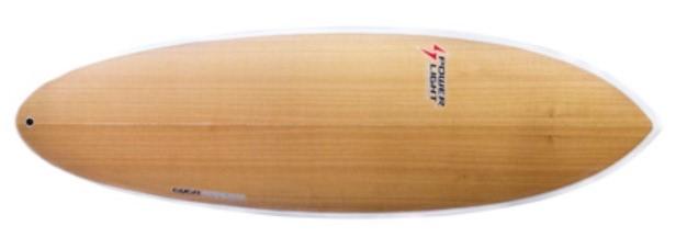 Modelo em madeira da prancha Hioster da Powerlight