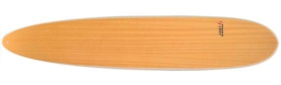 Modelo em madeira do Longboard da Powerlight