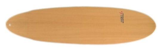 Modelo em madeira da prancha Minilong da Powerlight